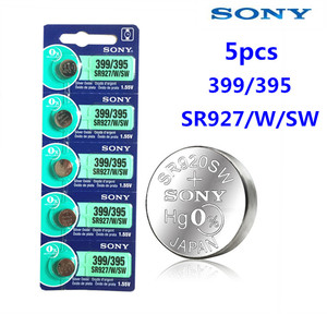 5pcs Sony 100% Original 395 SR927SW 399 SR927W LR927 AG7 1.55V Watch Battery SR927SW 395 Button Coin Cell MADE IN JAPAN