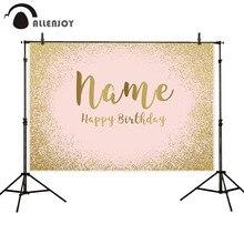 Allenjoy tło na urodziny różowy złoty brokat portret Party piasek Boda baner prysznicowy dla dziecka tło do zdjęć Photocall Photophone