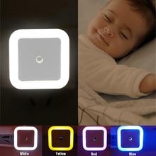 Hot Sale Light Sensor Control Night Mini EU US Plug Novelty Square Bedroom Romantic Colorful Lamp Baby Gift Dropshipping