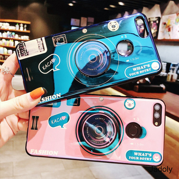 Caja de la cámara para Huawei Honor 8X 7X 8A 8S 20 Pro 8 9 10 caso Honor 8X 7X 8A 8S 20 Pro 8 9 10 Lite contraportada con soporte