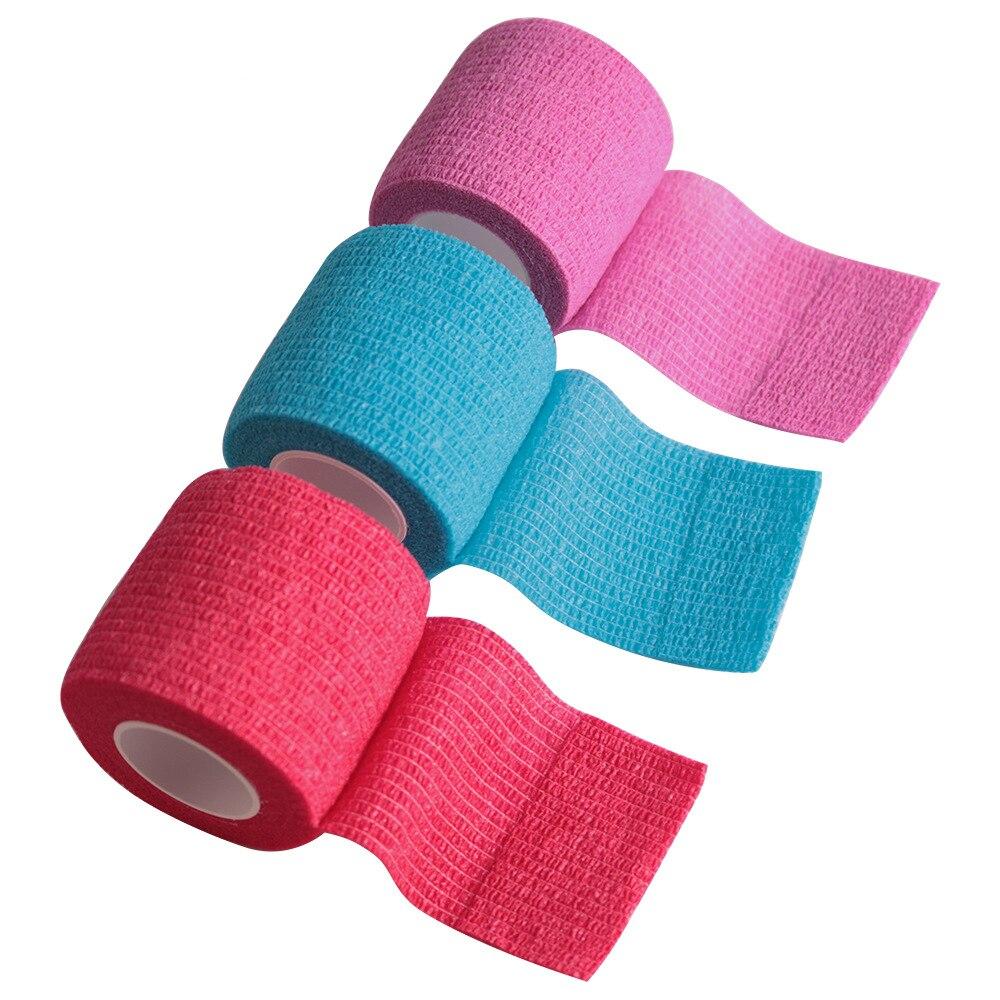 Baumwolle Atmungsaktiv Medizinische Gaze Verband für Outdoor Sport Elastische Selbst-adhesive Bandagen Befestigung Handgelenk Ellenbogen Knie Knöchel Bandage