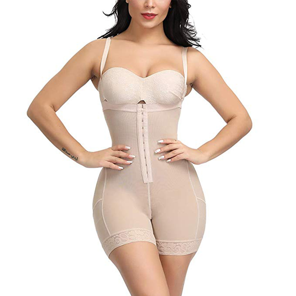 Buy Women Corrective Recovery Body Shaper Tummy Control Sexy Waist Trainer Fitness Slim High Waist Figure Zipper Postpartum Solid for only 16.05 USD
