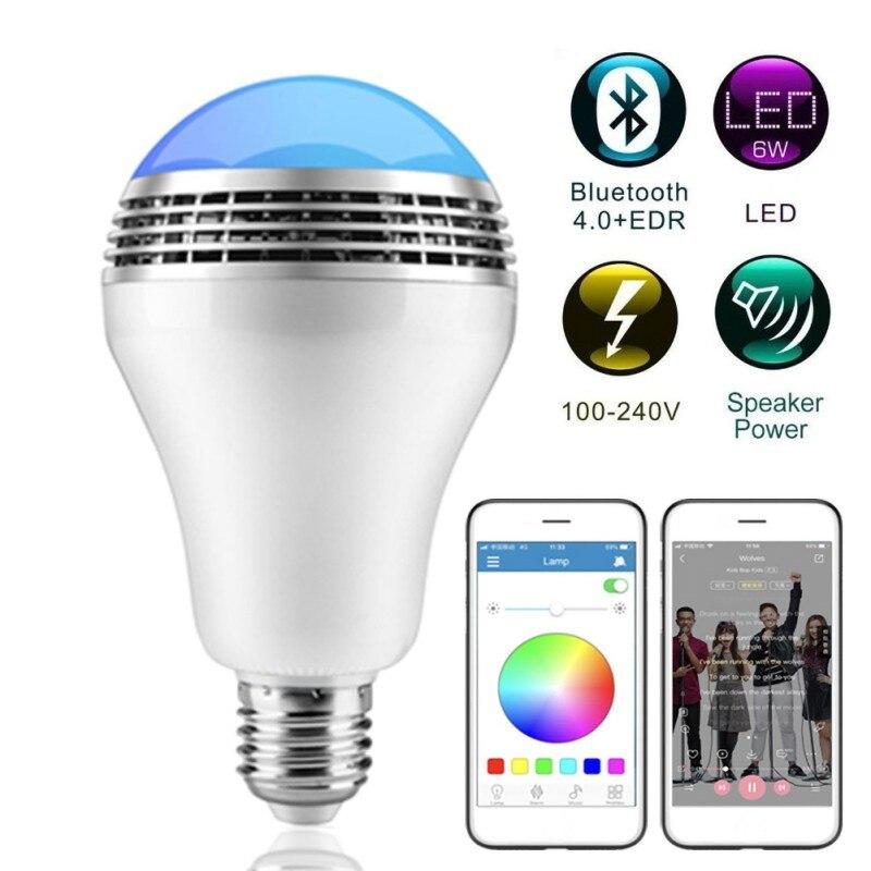 Беспроводной светодиод BT музыкальный светильник лампа с умным bluetooth динамиком многоцветное изменение приложения управление RGB подключение один к одному
