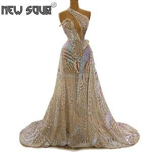 Image 2 - Özelleştirmek türk sırf şampanya akşam elbise uzun parti törenlerinde 2020 yeni orta doğu arapça kaftanlar boncuk balo elbise Vestido