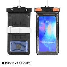 72 дюймов Водонепроницаемый мобильный телефон сумка прозрачный