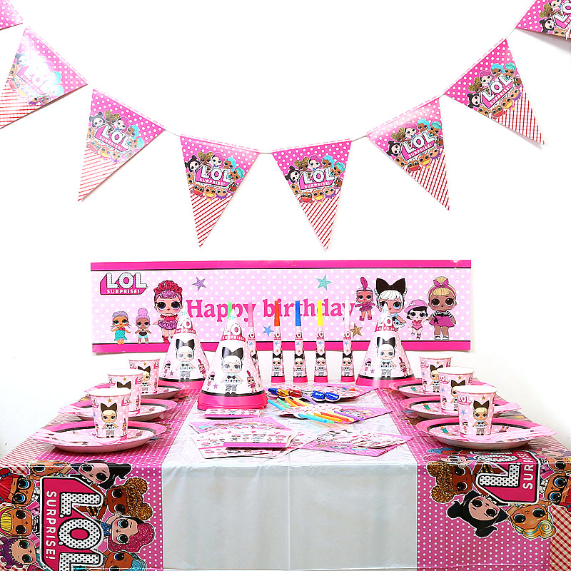 Genuine LOL SURPRISE Dolls Birthday Party Themes Anime Figure Original Lols Dolls Decoration Supplies For Girl's Birthday Gifts