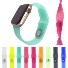 Silicone Transparent strap for apple watch band 38/40mm & 4 44mm Wristband Bracelet iWatch series 3/2/1 42mm