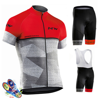 Men's MTB Cycling Set 2019 Pro Team Nw Cycling Jersey Suit Quick Dry Bike Cycling Clothing Breathable outdoor Cycling Sportswear