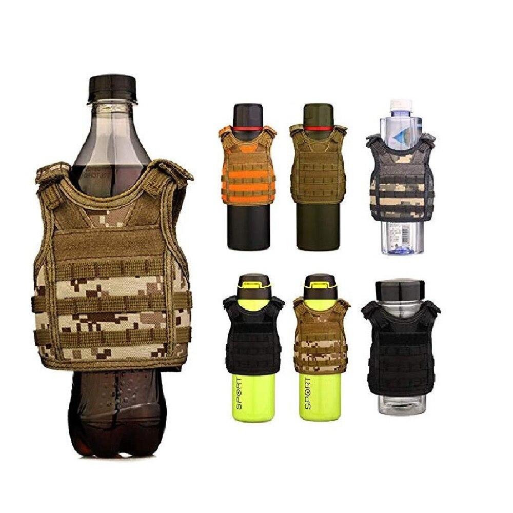 Tactical Cooler Mini Beer Vest Insulator Beverage Water Bottle Can Cup Holder