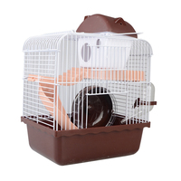 Hamster Cage Squirrel Duplex Cottage Guinea Pig Basket Single Layer Plastic Pet House for Chinchilla Small Rabbit Hedgehog Villa