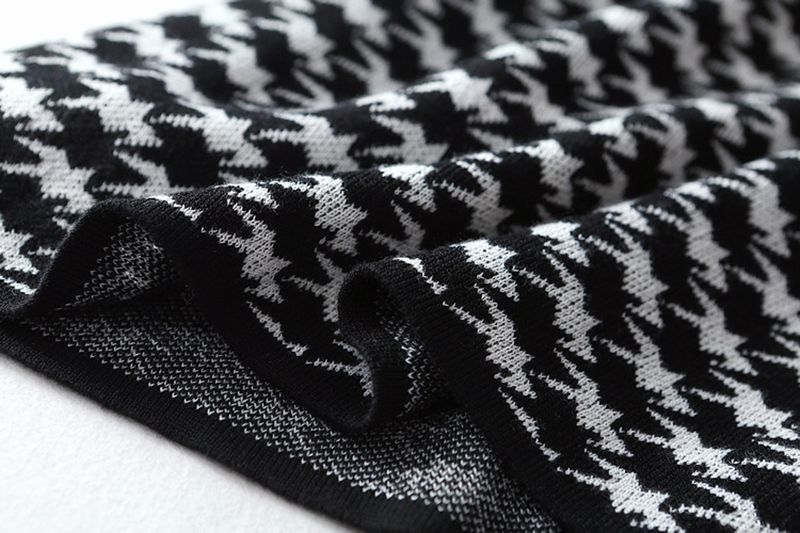 Elegant Turtleneck A-line Knit Midi Dress