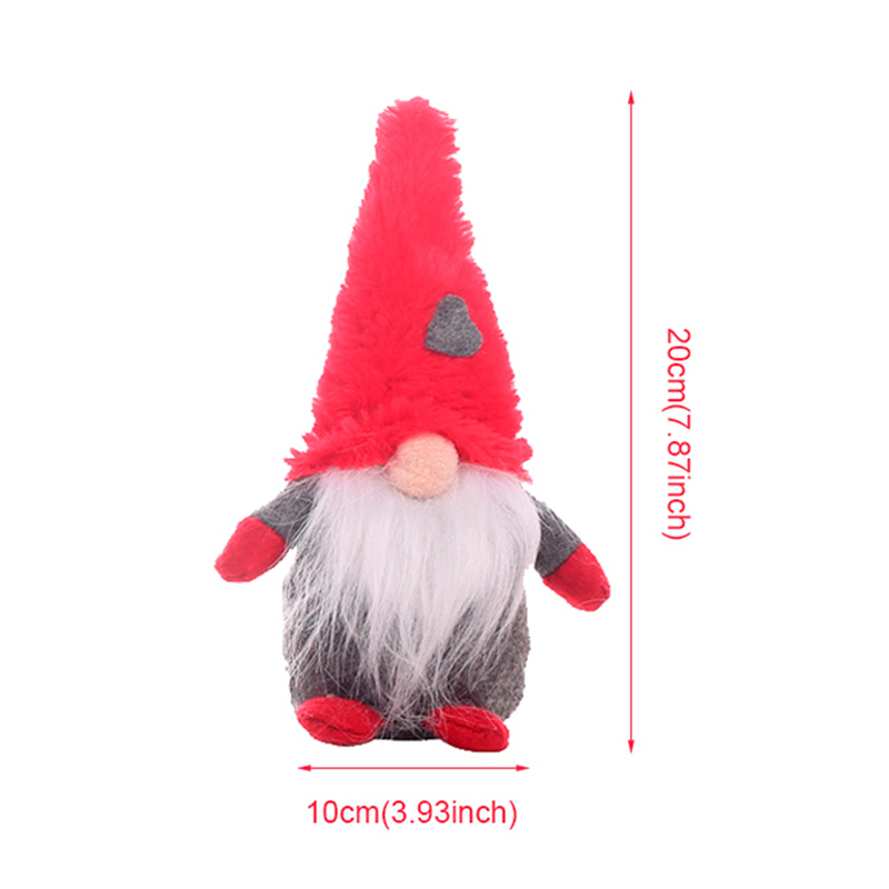FENGRISE 1pcs Christmas Plush Dolls Christmas Ornaments Christmas Decoration For Home 2019 Christmas Gifts Navidad New Year 2020 in Pendant Drop Ornaments from Home Garden