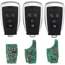 Araba anahtarsız akıllı uzaktan anahtar 433Mhz için BAIC EU5 BJ40 BJ20 X65 X55 D70 D60 D50 araba akıllı uzaktan anahtar