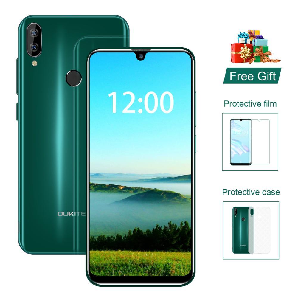OUKITEL C16 Smartphone 5.71 Inch Quad Core 2G RAM 16G ROM Cellphone 2600mAh Dual Camera Unlock Android 9.0 Mobile Phone