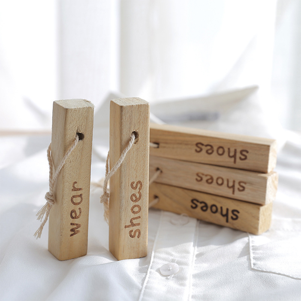 5PCS/Set Hanging Blocks Formaldehyde Free Drawers Moth Natural Moth Repellent Wardrobes Wood Insect Control Clothing Protection