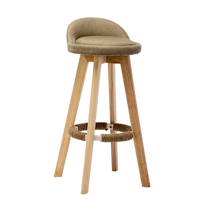 Walnut Non Hemp Rope Bar Table And Chair Simple Bar Chair Beech High Stool Bar Stool Front Desk Bar Chair Stool