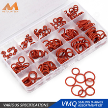 150PCS PCP Paintball VMQ Sealing Silicone O-rings OD 6mm-30mm CS 1.5mm 1.9mm 2.4mm 3.1mm Red Gasket Replacements 15 Sizes HG010