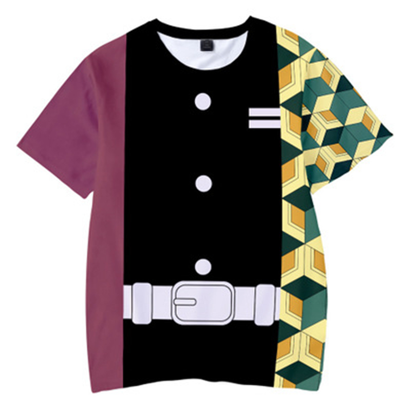 H75c61c41ddb4432184f9ae44304e289ap Kids Boys Devils killer T-shirts 3d Print Cosplay Japanese Ghost blade Children Summer Short Sleeve Tshirts Demon Slayer Clothes