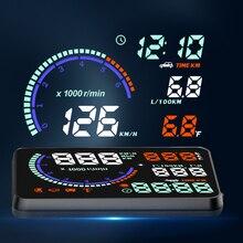 HUD i9 Head Up display otomatik HUD OBD2 araba hız projektör KMH MPH hız göstergesi araba dedektörü yağ tüketimi güvenlik Alarm