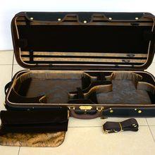 Королевский альт и скрипка Двойной Деревянный чехол!(HL-002) для альта(406-420 мм