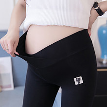 Leggings with Cat-Sign Comfortable Loose Adjustable Maternity Pregnancy-Pants -Y10 Solid-Color
