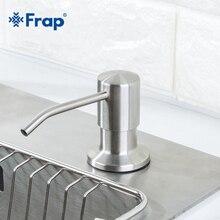 Диспенсер для жидкого мыла Frap, нержавеющая сталь, 500 мл, кухонный держатель для жидкого мыла, ПЭ бутылка для хранения Y35014