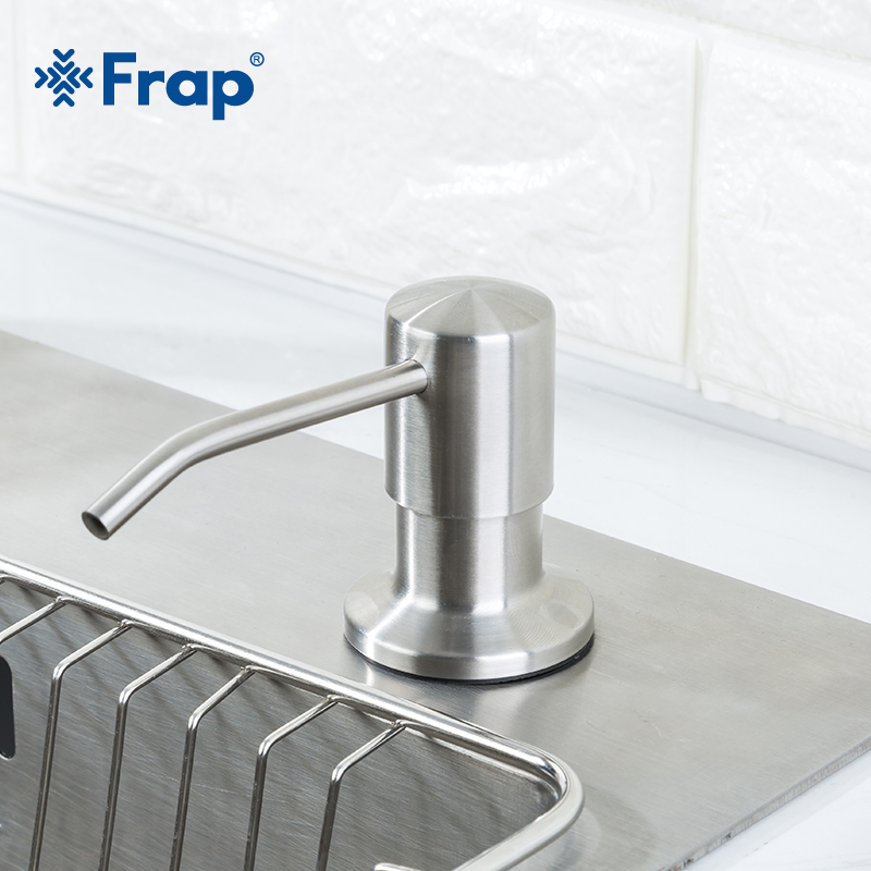 Frap Stainless Steel 500ml Kitchen Hand Sanitizer Sink Liquid Soap Detergent Dispenser Pump Storage Holder PE Bottle Y35014