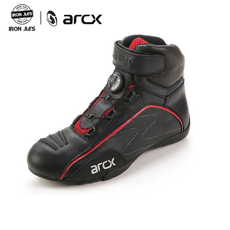 ARCX Motorrad Stiefel Road Racing Schutz Schuhe Kuh Leder Atmungs Tragbare Botas Moto Reiter Professionelle Reiten Stiefel