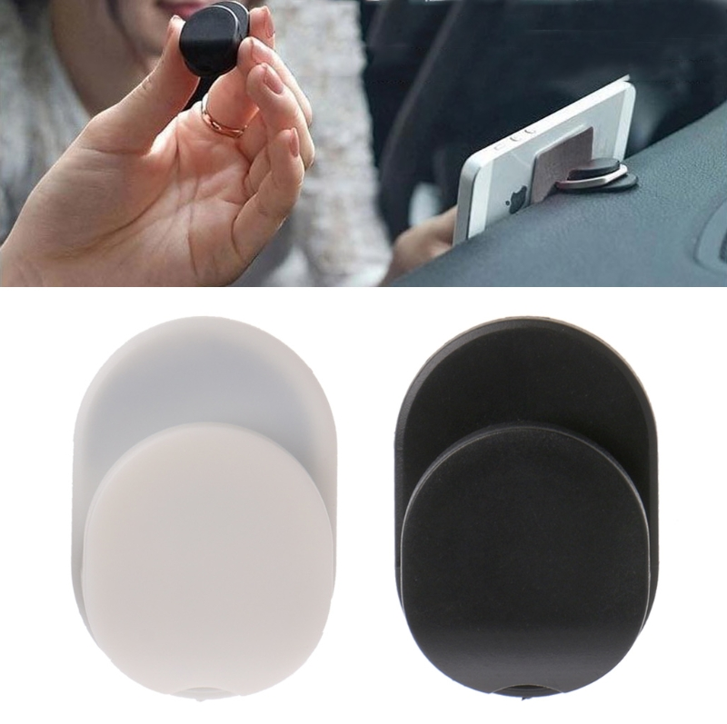 Car Mount Sticky Holder Hook For 360˚ Rotation Finger Ring Mobile Phone Stand R9UA