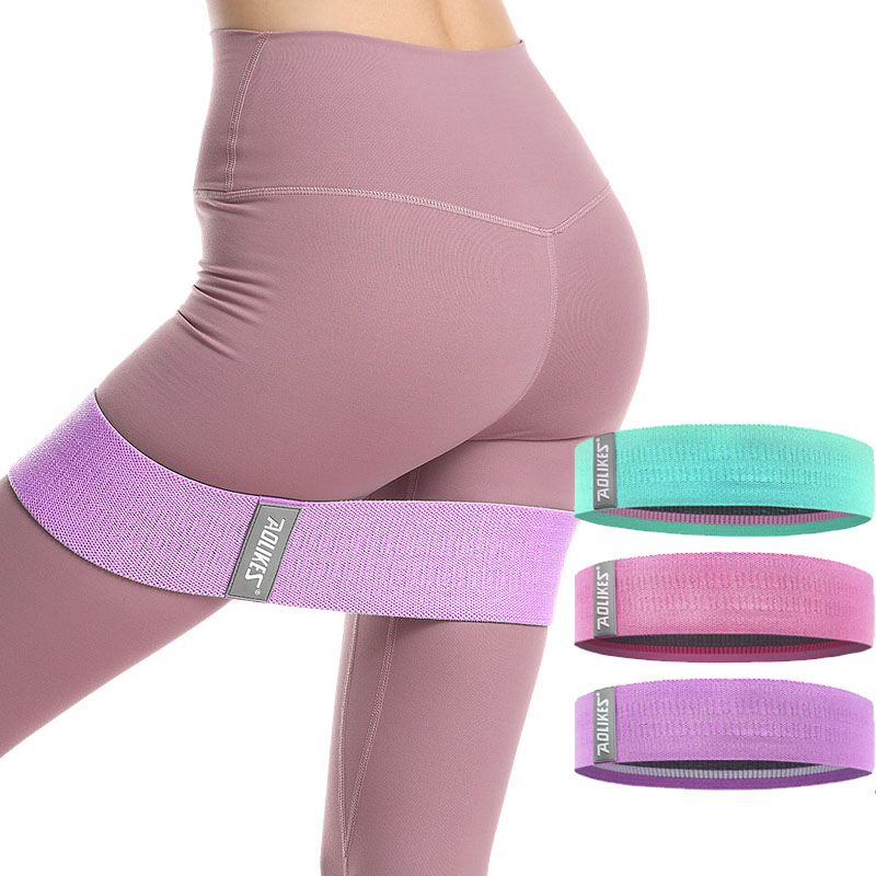 Stretch Body Resistance Bands Hip Circle Exercise Cotton Bands Thigh Butt Squat Fitness Rubber Bands Elastic Workout Glute Loop
