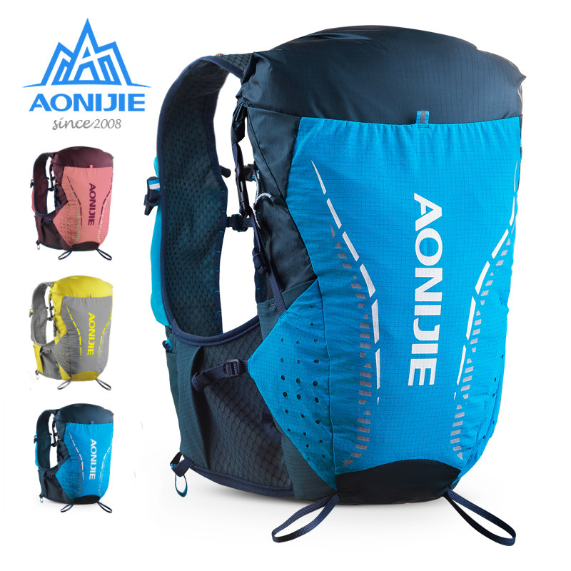 AONIJIE C9104 ультра жилет 18 л гидратации рюкзак сумка Мягкий воды пузырь колба для пеших прогулок бега марафона гонки S/M мл L/XL
