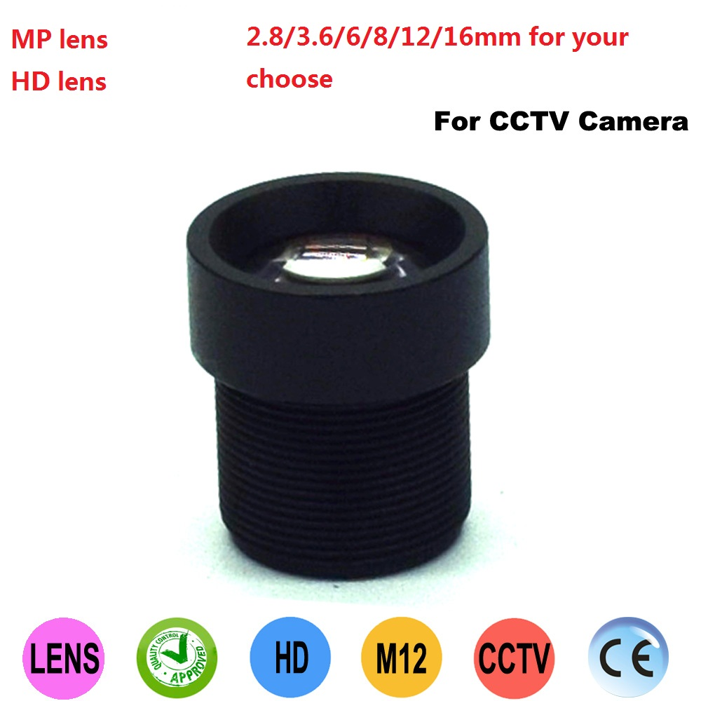 <font><b>2.8mm</b></font>/3.6mm/6mm/8mm/12mm/16mm lens for CCTV camera Digital camera lenses Security CCTV Accessories Mini <font><b>M12</b></font> Lens image