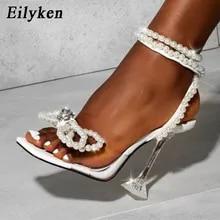 Sandals Shoes Buckles String Pumps-Size High-Heels Eilyken Sexy White Women Gladiator