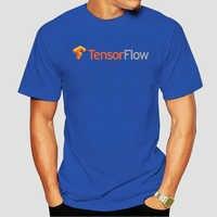 Camiseta 100% de algodón con cuello redondo para hombre y mujer, camisa con estampado personalizado, tensorflow, 4634X