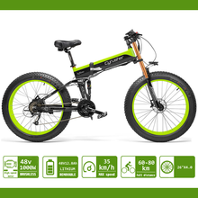 Electric Bike 1000W Fat Tire ebike 48v 12.8AH Anti-theft lithium Battery Folding ATV Cruiser XF690 Big Front Fork eBike