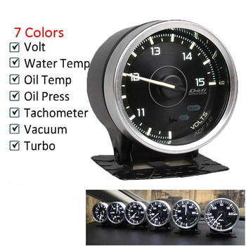 Defi Advance A1 2.5 inch 60mm 7 Colors universial Gauge Water Temp Oil Temp Turbo Boost Oil Pressure  IN-MF Press Vacuum meter 7 colors oil pressure gauges turbo boost gauge oil temp water temperature meter with sensor for car racing fuel meter 52mm auto