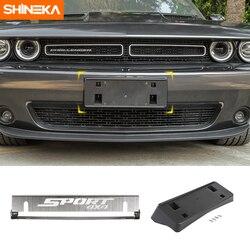SHINEKA zewnętrzny tylny uchwyt na tablicę rejestracyjną uchwyt ozdobny do Dodge Challenger 2015 + akcesoria Car Styling
