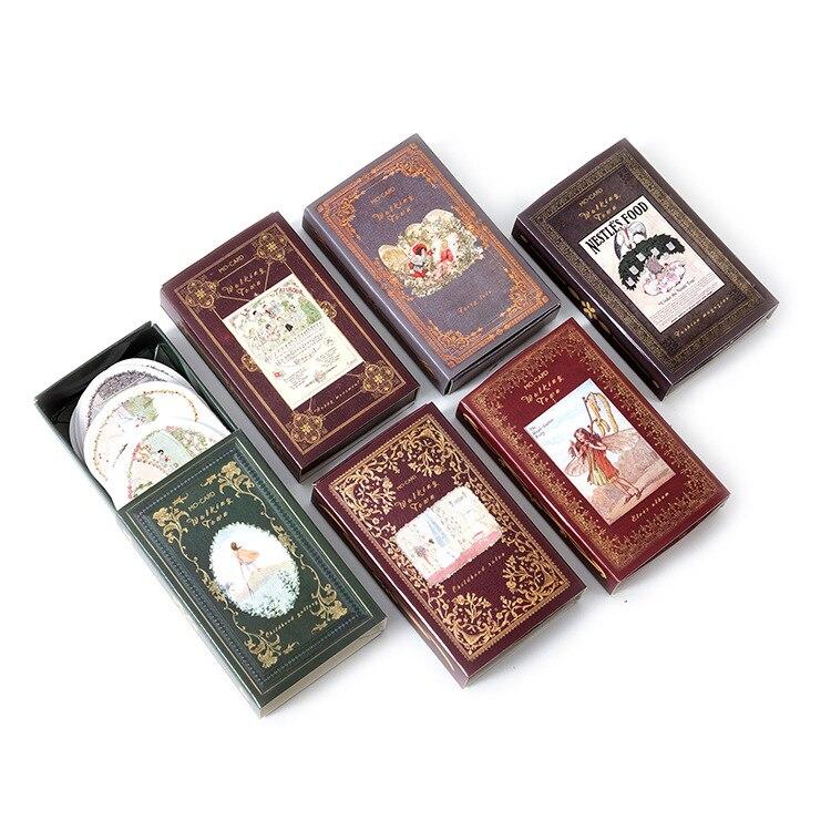 Fairy & Elf Matchbox Diary Stickers Retro Stamps Scrapbooking Korean Cute Bullet Journal Sticker Label 60pcs/box