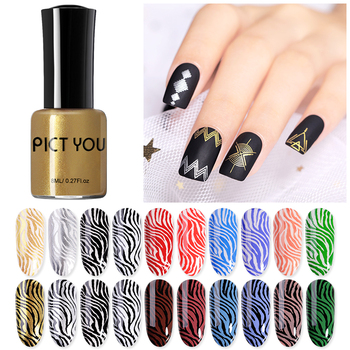 PICT YOU 8ml Stamping Nail Polish  Color Black Stamping Nail varnish Printing Varnish  For Nail DIY Stamping Plate