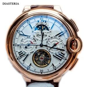 Мужские автоматические механические наручные часы Tourbillon, мужские часы топового бренда, роскошные часы с ремешком, спортивные мужские часы, ...