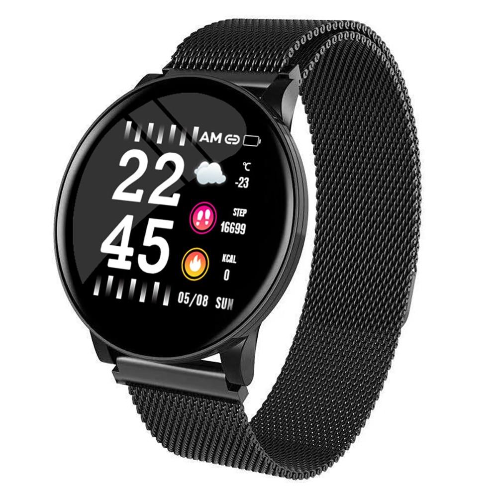 W8 Color Screen Sports Watch 1.3 Eng Heart Rate Blood Pressure Oxygen Oxygen Sleep Multi-function Sports Watch IP67 Waterproof