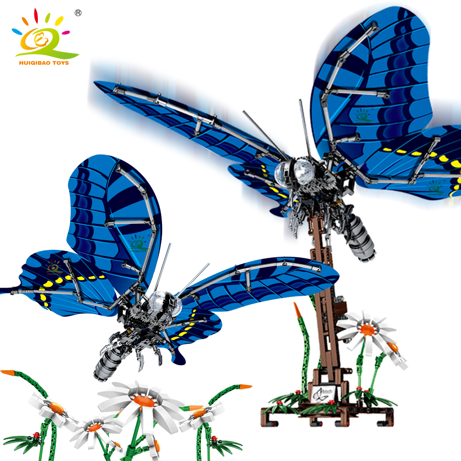 564Pcs Simulated Swallowtail Butterfly Building Blocks Compatible Legoing Technic Insect City Construction Bricks Children Toys