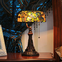 10 inch Tiffany table lamp study room decoration lamp office table lamp rose lamp antique mosaic burner plug lamp oil table lamp wedding the area of shipping complex tiffany