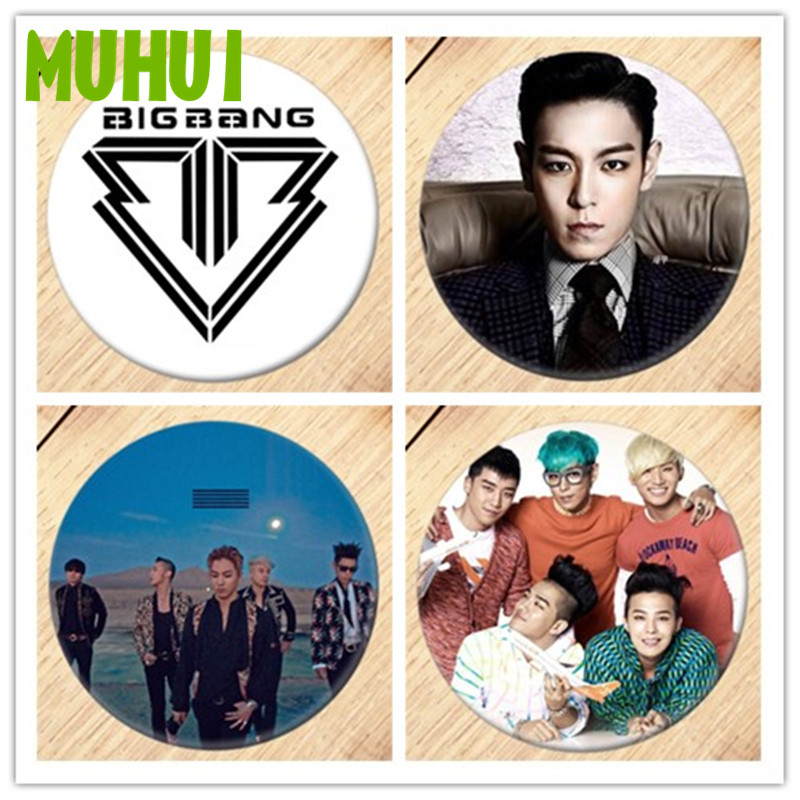 Free Shipping Kpop <font><b>BIGBANG</b></font> GD TOP MADE Brooch Pin Badges For Clothes Backpack Decoration Jewelry B058 image