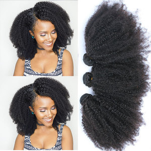 Mongolian Afro Kinky Curly Bundles Human Hair Bundles With Closure 100% Human Hair Weave Extensions 4B 4C Virgin Hair EverBeauty(China)