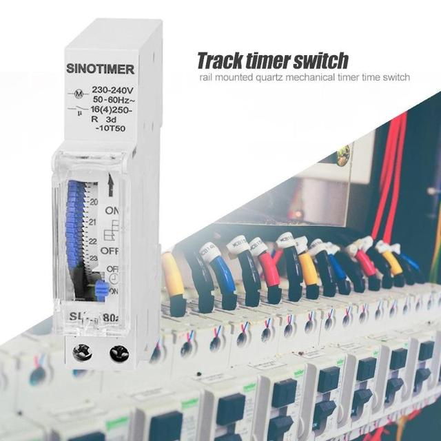 Hot Sale DIN Rail Time Switch Delicate Texture SUL180 DIN Rail Time Switch Mechanical Timer Switch 24 Hours Programmable Timer