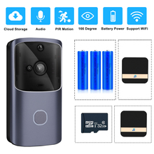 ZILNK 스마트 홈 초인종 와이파이 무선 비디오 인터콤 도어 벨 카메라 모니터 배터리 구동 원격 제어 iOS 안드로이드