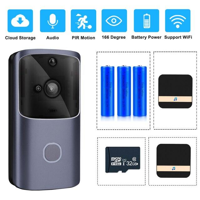 Zilnk Smart Home Deurbel Wifi Draadloze Video Intercom Deurbel Camera Monitor Batterij Aangedreven Afstandsbediening Ios Android