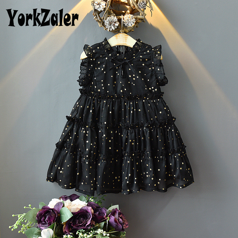Yorkzaler New Fashion Summer Kids Princess Dress For Girls Sleeveless Girl Cupcake Dress