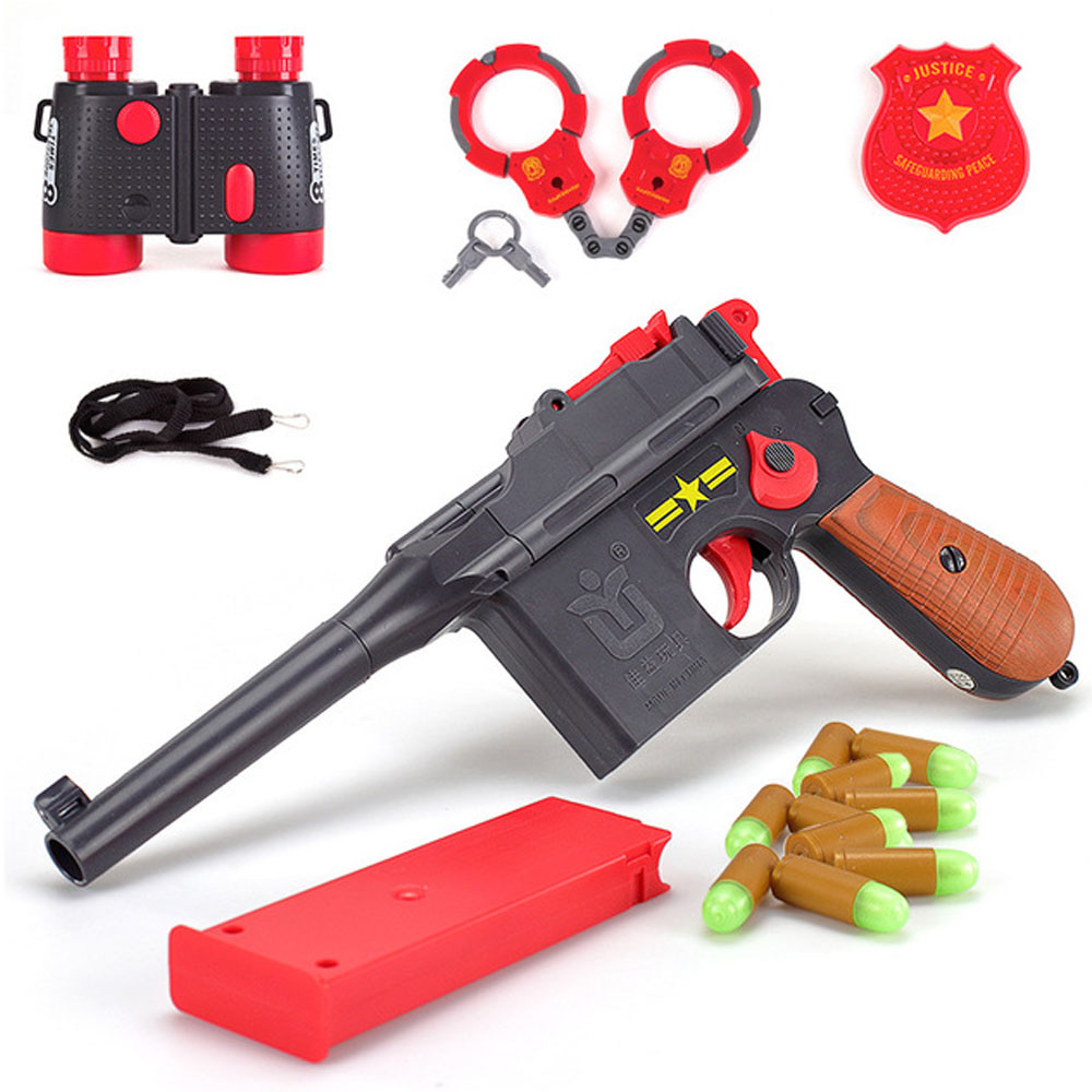 Boy Toy Gun For Pistol Simulation Soft Warhead Role Playing Children's Battle Game Outdoor Parent-child Exchange Sports Toy 6488